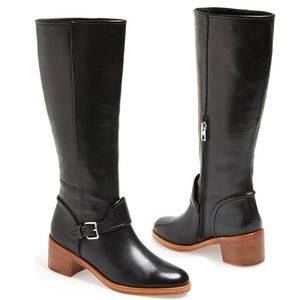 Coach | Cecelia Black Leather Heeled Riding Boots